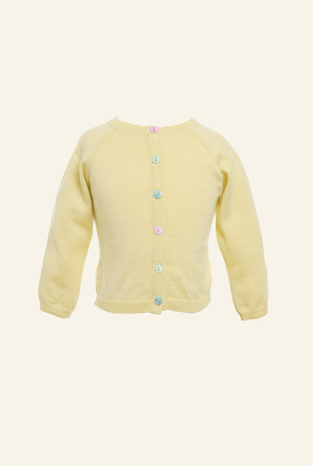 Children's Classic Cardigan - Lemon