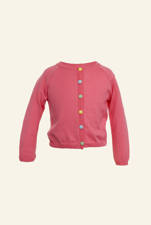 Children's Classic Cardigan - Rose
