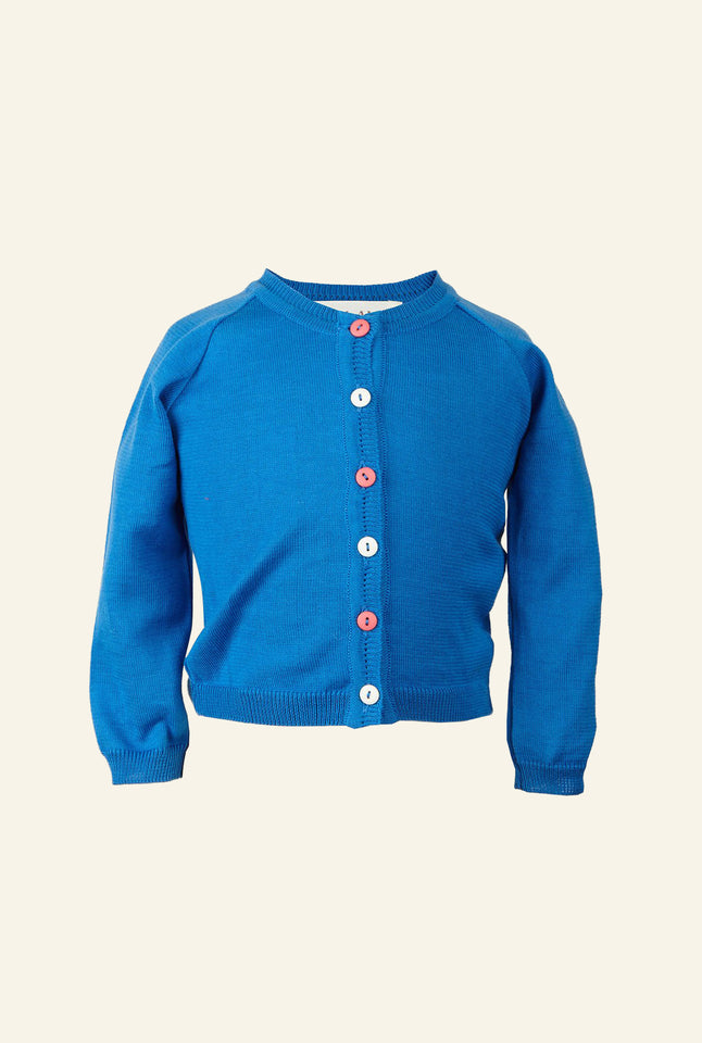 Children's Classic Cardigan - Royal Blue
