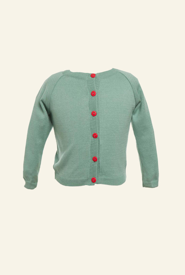 Children's Classic Cardigan - Sage