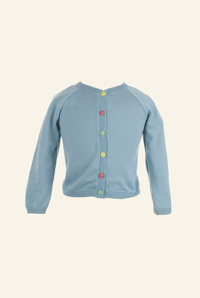 Children's Classic Cardigan - Sky Blue