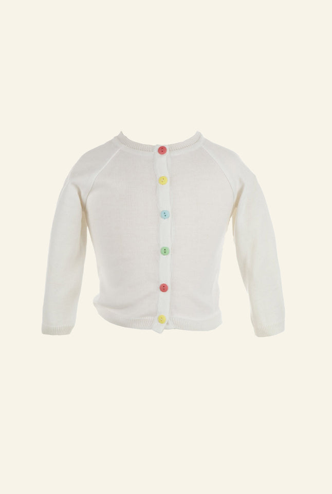 Children's Classic Cardigan - Ivory