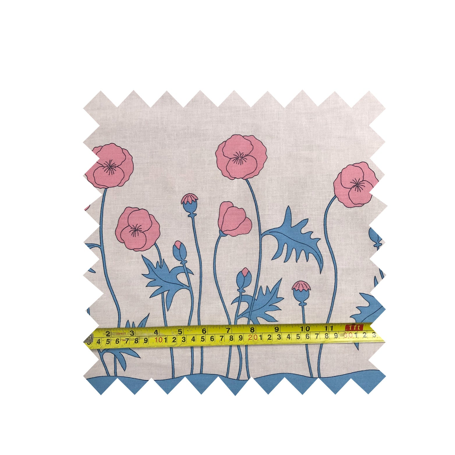 Pink Poppy Fabric - Cotton