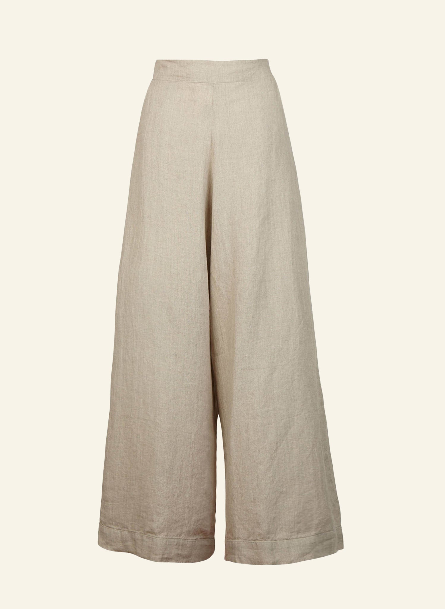 Josephine - Natural Linen Trousers