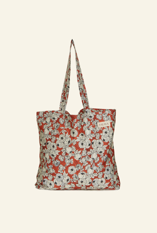 Large Shopper - Red Pomegranate