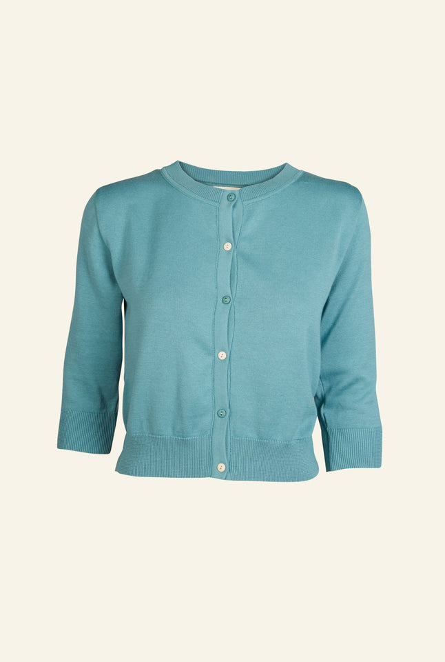 Organic Cotton Cardigan - Teal