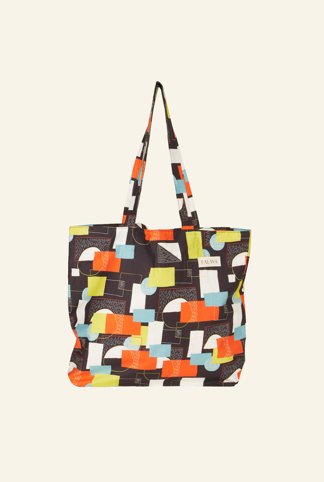 Large Shopper - Black Abstract Circus