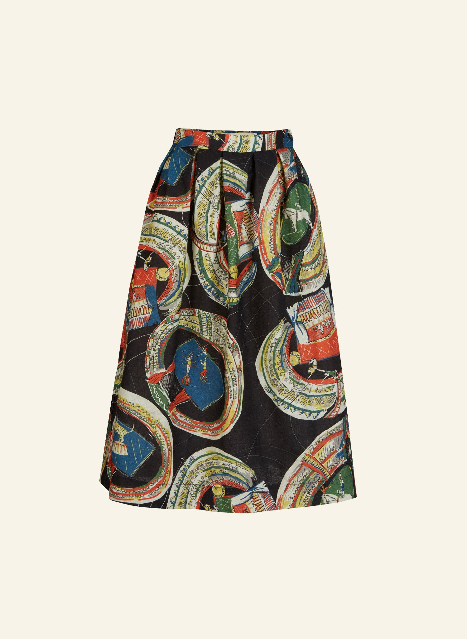 Ada - Black Big Top Skirt | Cotton - Linen Blend