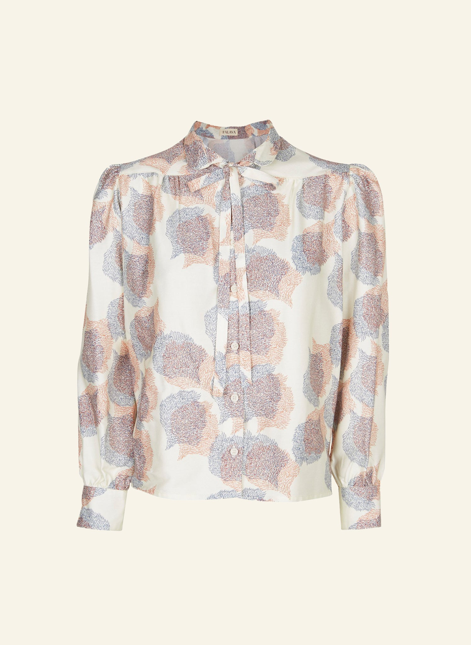 Anna - Ivory Migration Blouse - 100% Tencel