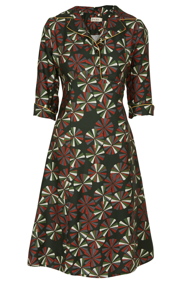 Annie - Green Deco Motion Dress