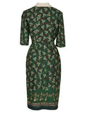 Betsy - Green/Lace Cabaret Dress