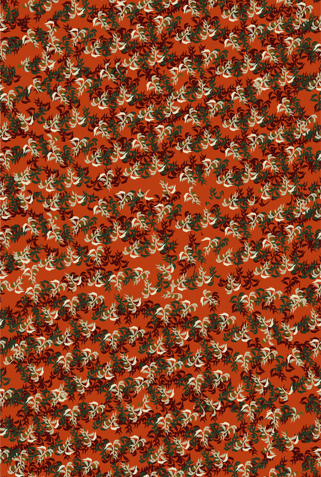 Rust Cabaret Fabric - Cotton Twill