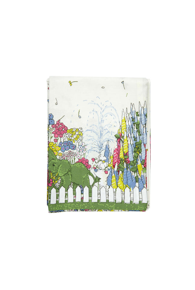 Single Pillowcase - Cream Flower Garden/Chelsea Flower Show - Palava