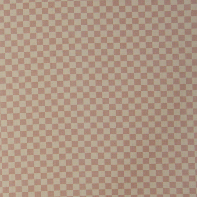 Ecru check print fabric