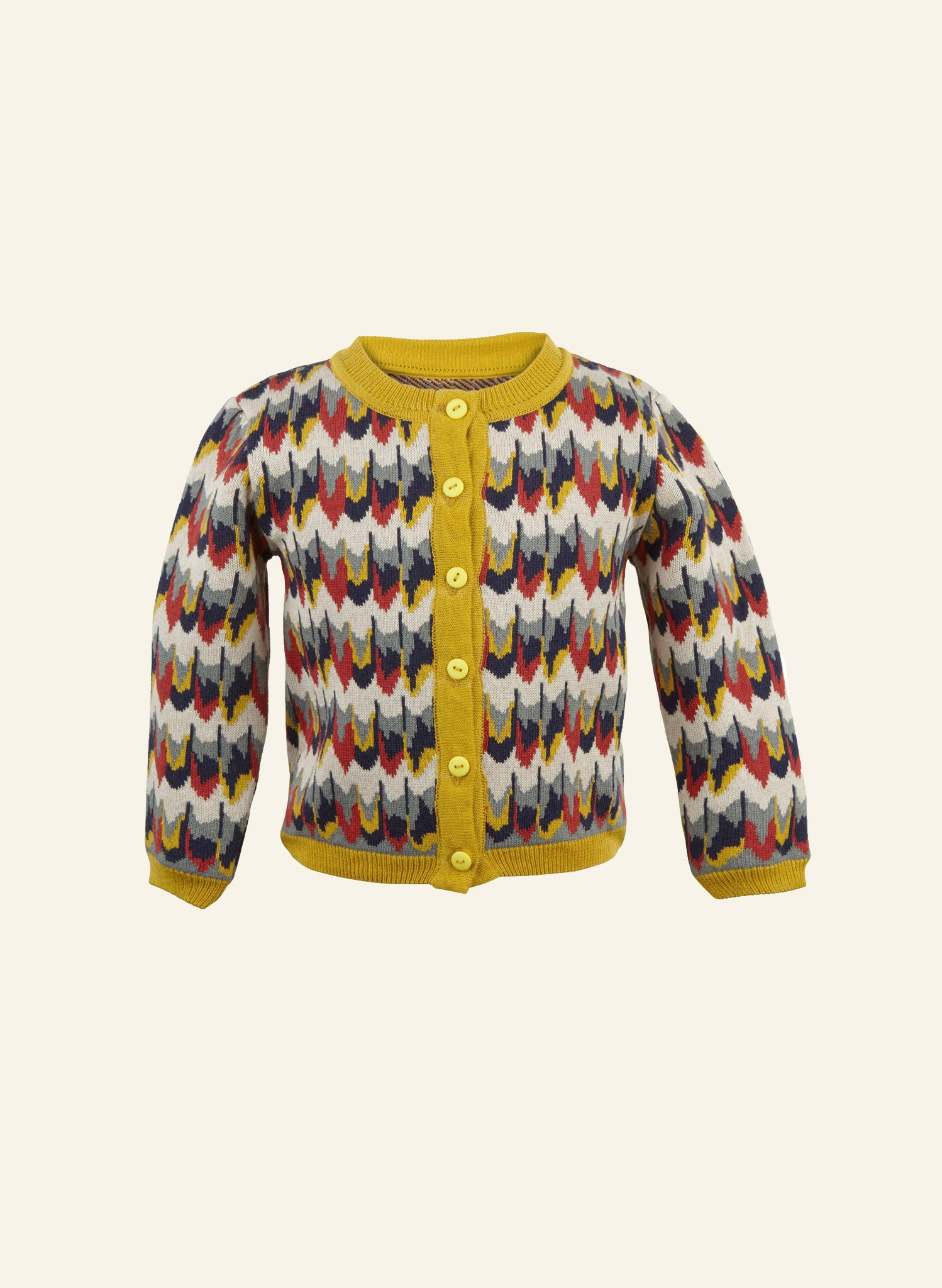 Children's Cardigan - Marbled Feathers
