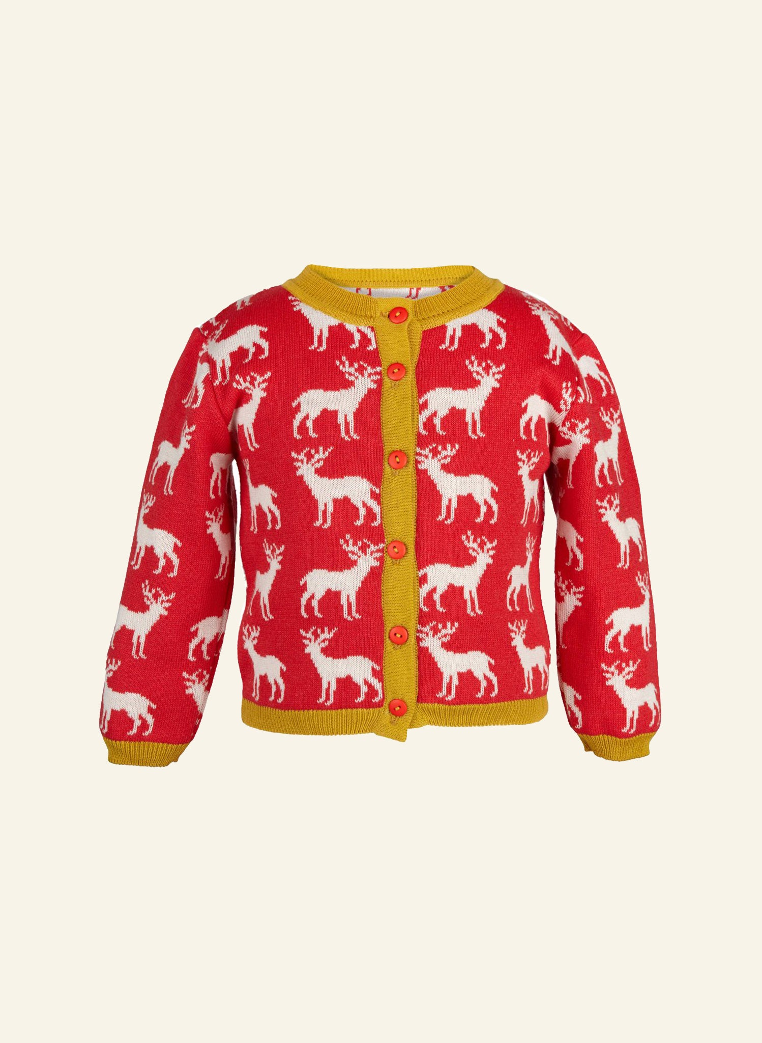 Children's Cardigan - Red Reindeer