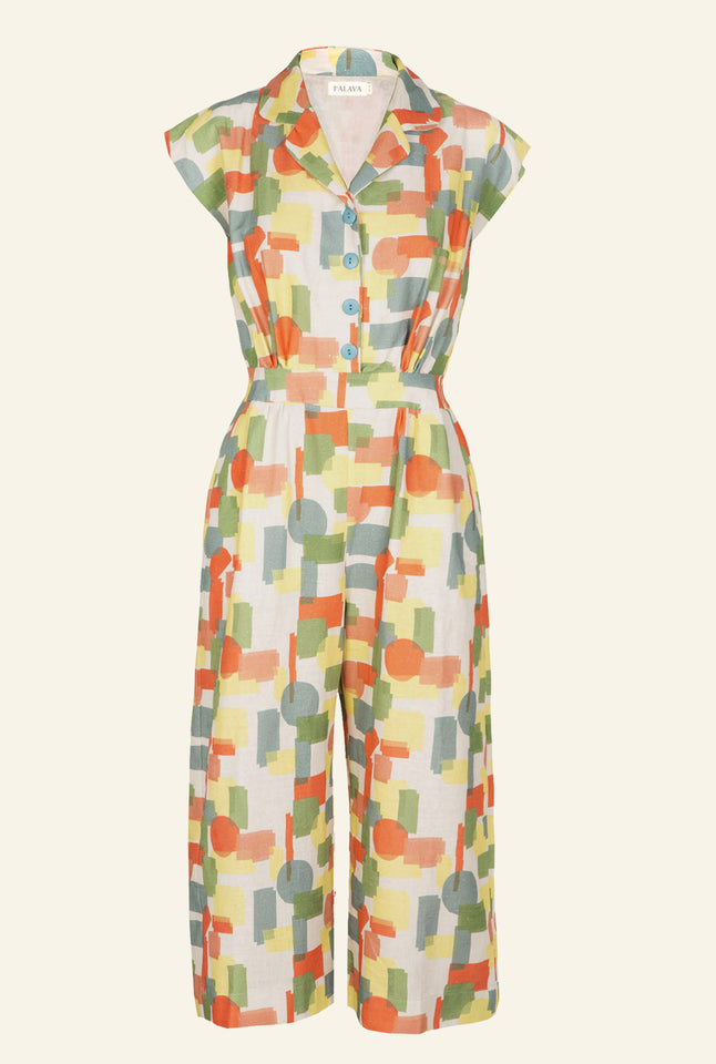 Francesca - After The Show Jumpsuit | Cotton Linen Blend
