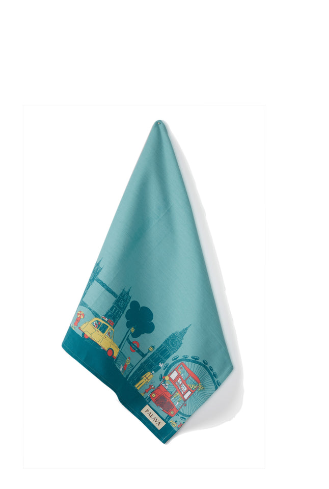 Tea Towel - Turquoise London
