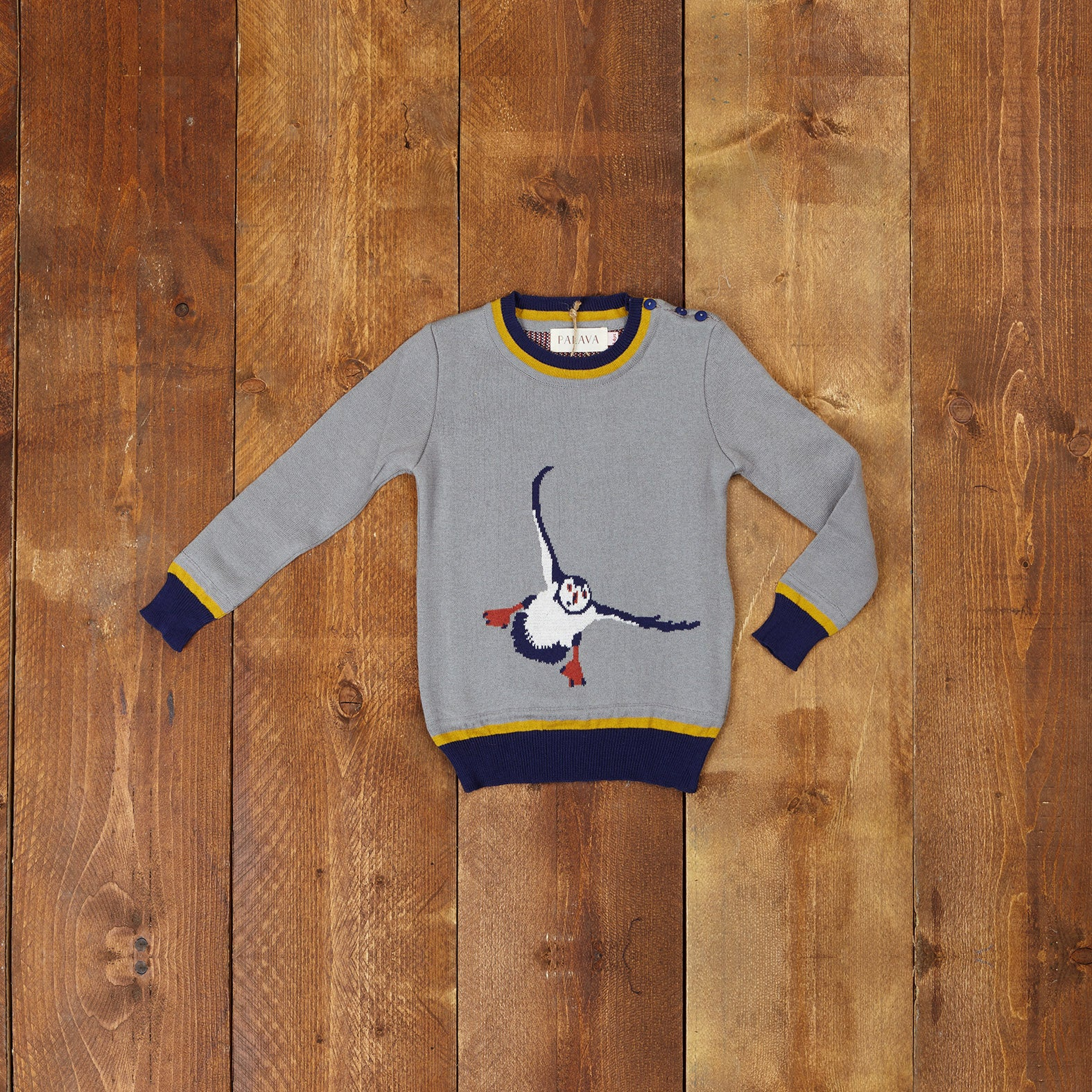 Children's Jumper - Grey Puffin - Palava