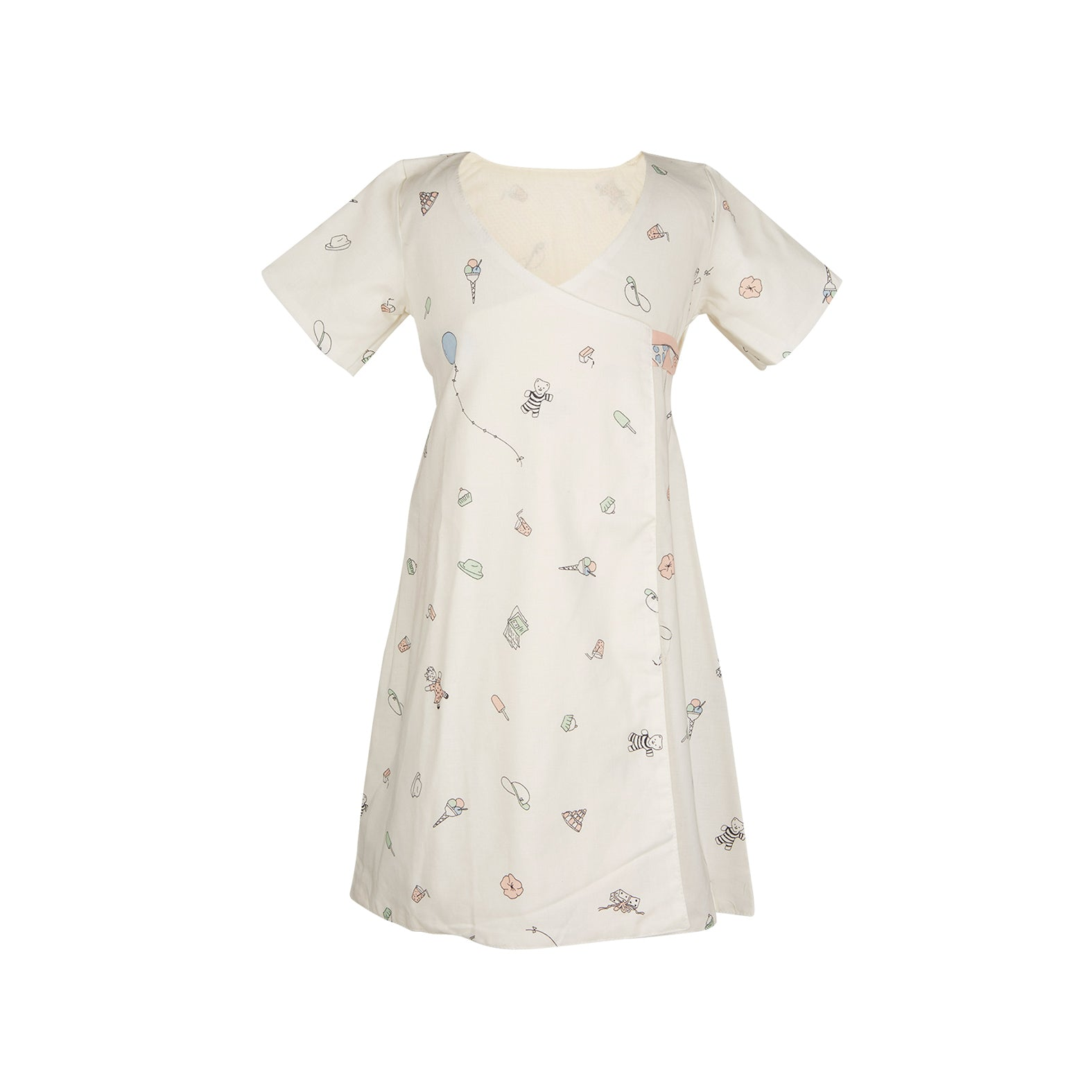 Archive sale - Junko dress birthday bash cream pink
