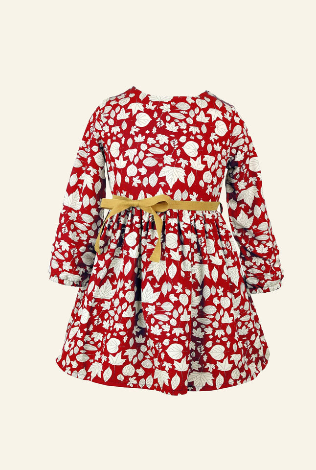 Margaret - Red Leaves Children's Dress