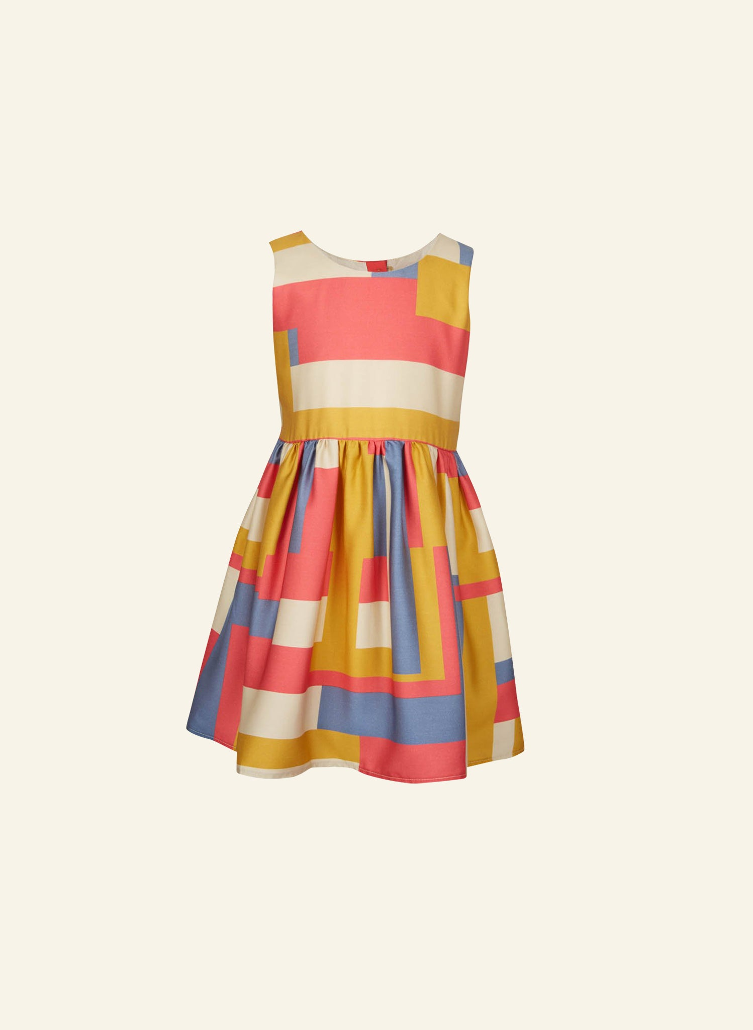 Martha - Coral Axis Children's Dress
