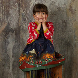 Children's Cardigan - Red Reindeer - Palava