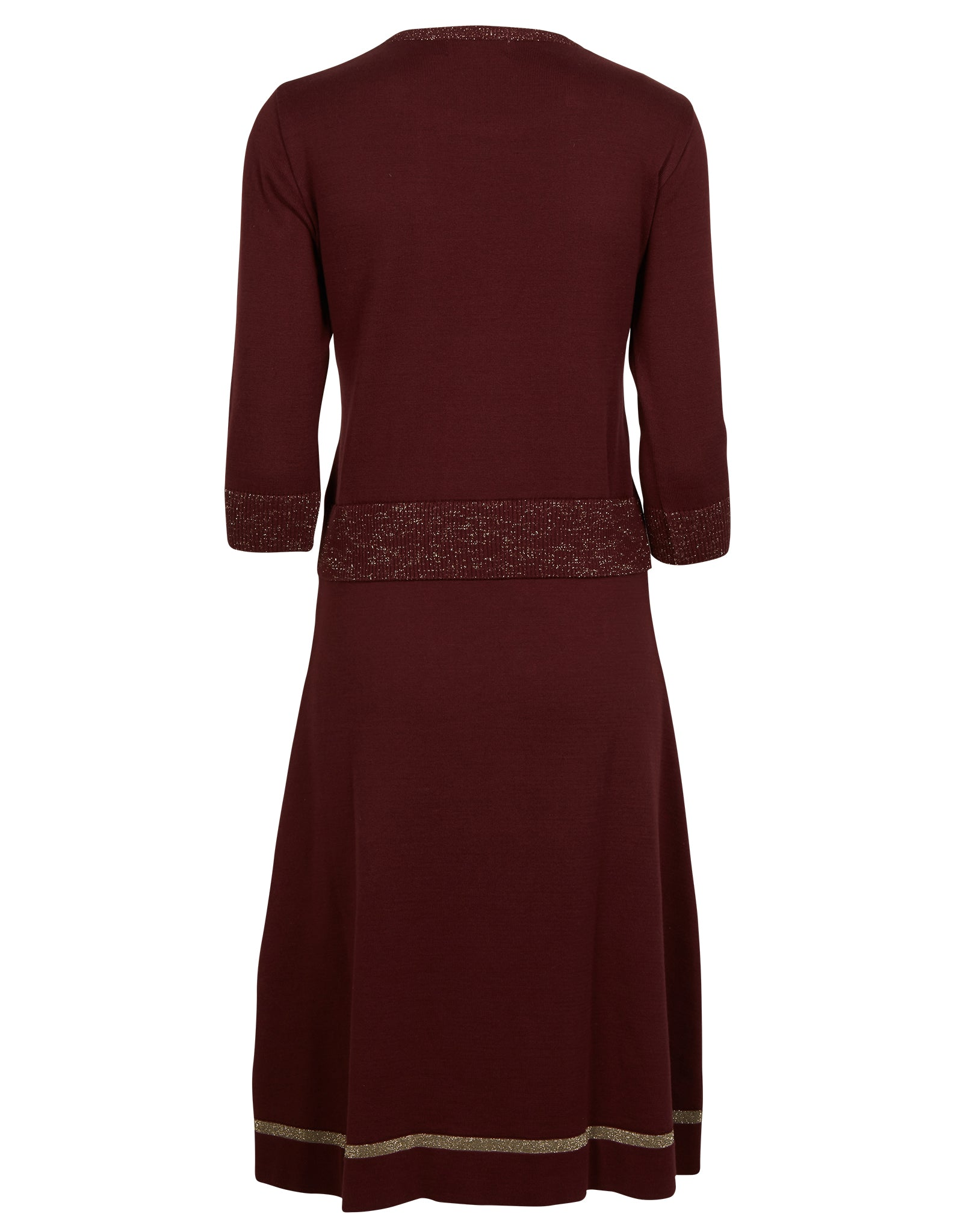 Otti Knitted Dress - Plum Sparkly - Organic Cotton