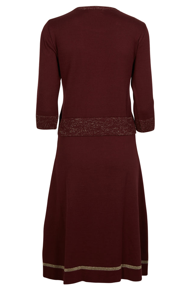Otti Knitted Dress - Plum Sparkly