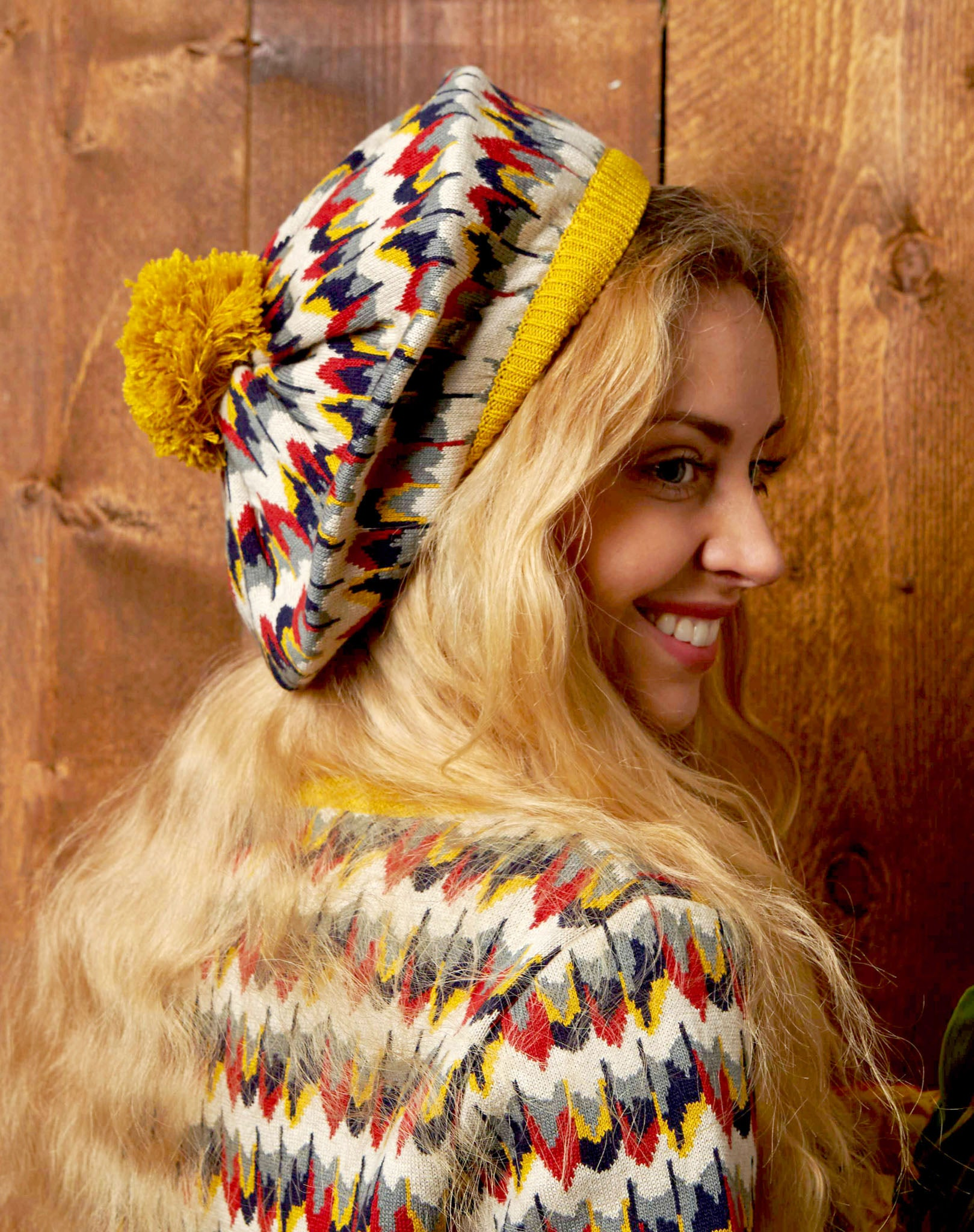 Organic Cotton Beret - Marbled Feathers - Palava