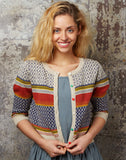Organic Cotton Cardigan - Geometric Knit - Palava