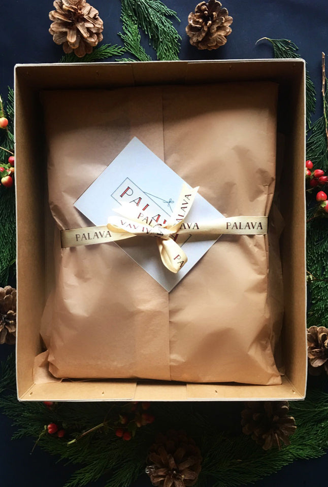 Gift Wrap -  Large Box, Tissue Paper and Postcard - Palava