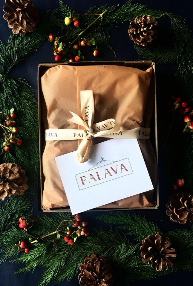 Gift Wrap -  Small Box, Tissue Paper and Postcard - Palava