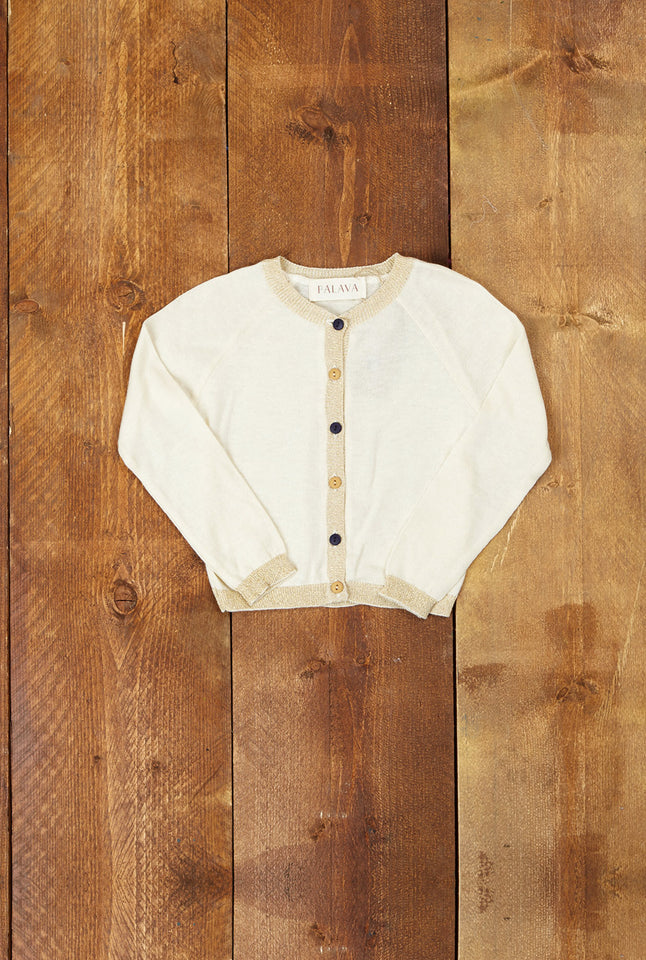 Children's Classic Cardigan - Sparkly Gold - Palava
