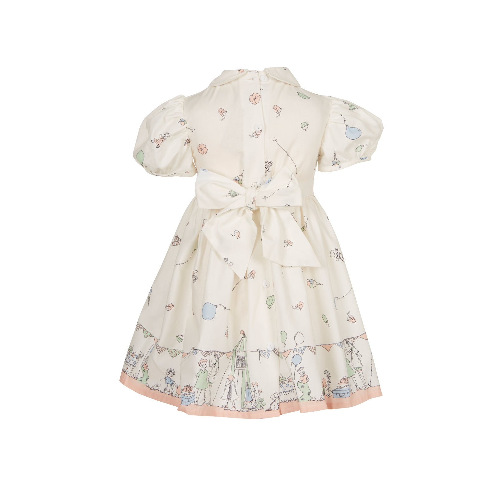 Archive sale - Alice dress - Birthday bash cream pink