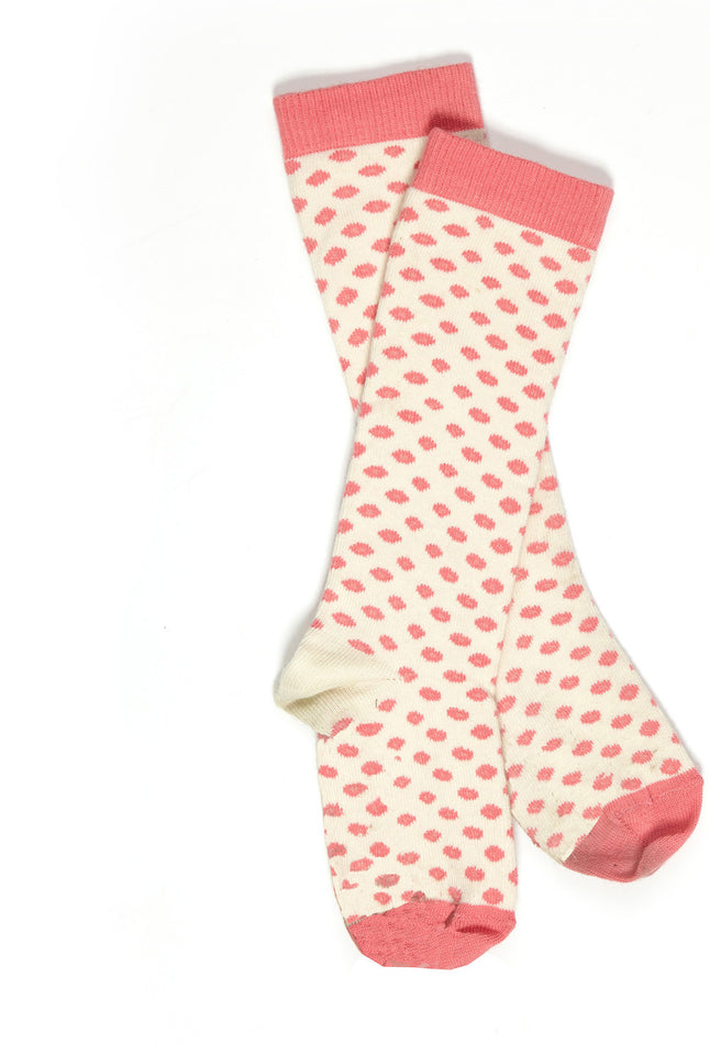 Children's Socks - Pink Floral Dot - Palava