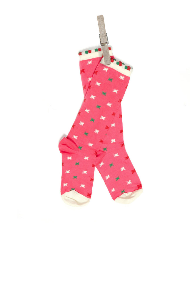 Children's Socks - Pink Neon Star - Palava