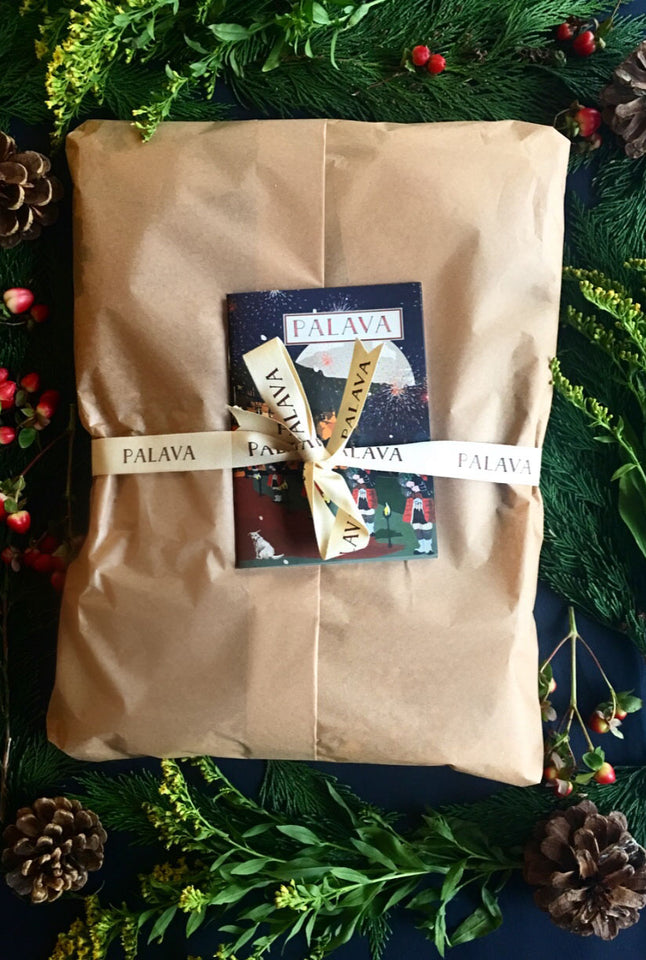 Gift Wrap - Brown Tissue Paper and Postcard - Palava