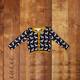 Children's Cardigan - Navy Reindeer - Palava