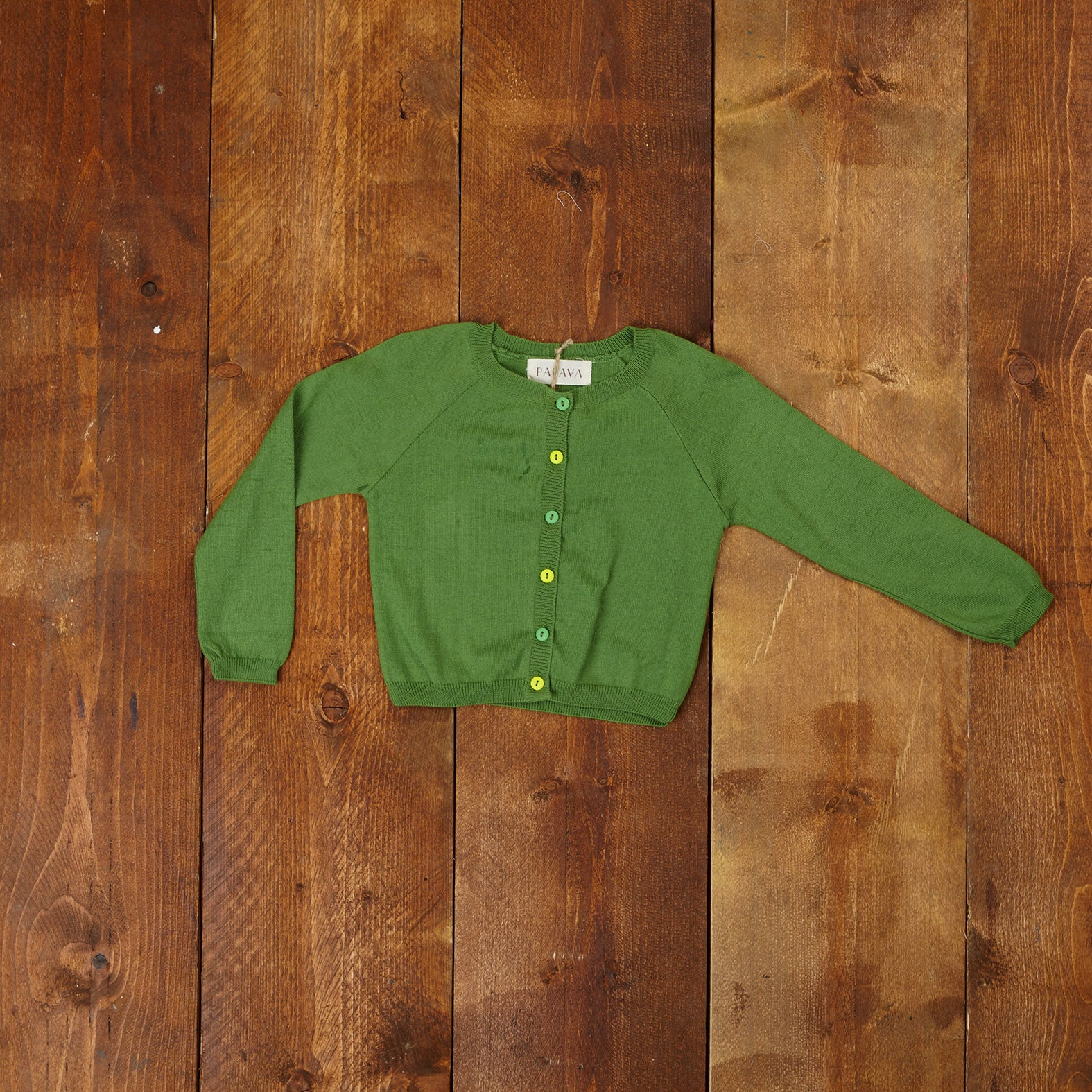 Children's Classic Cardigan - Green - Palava