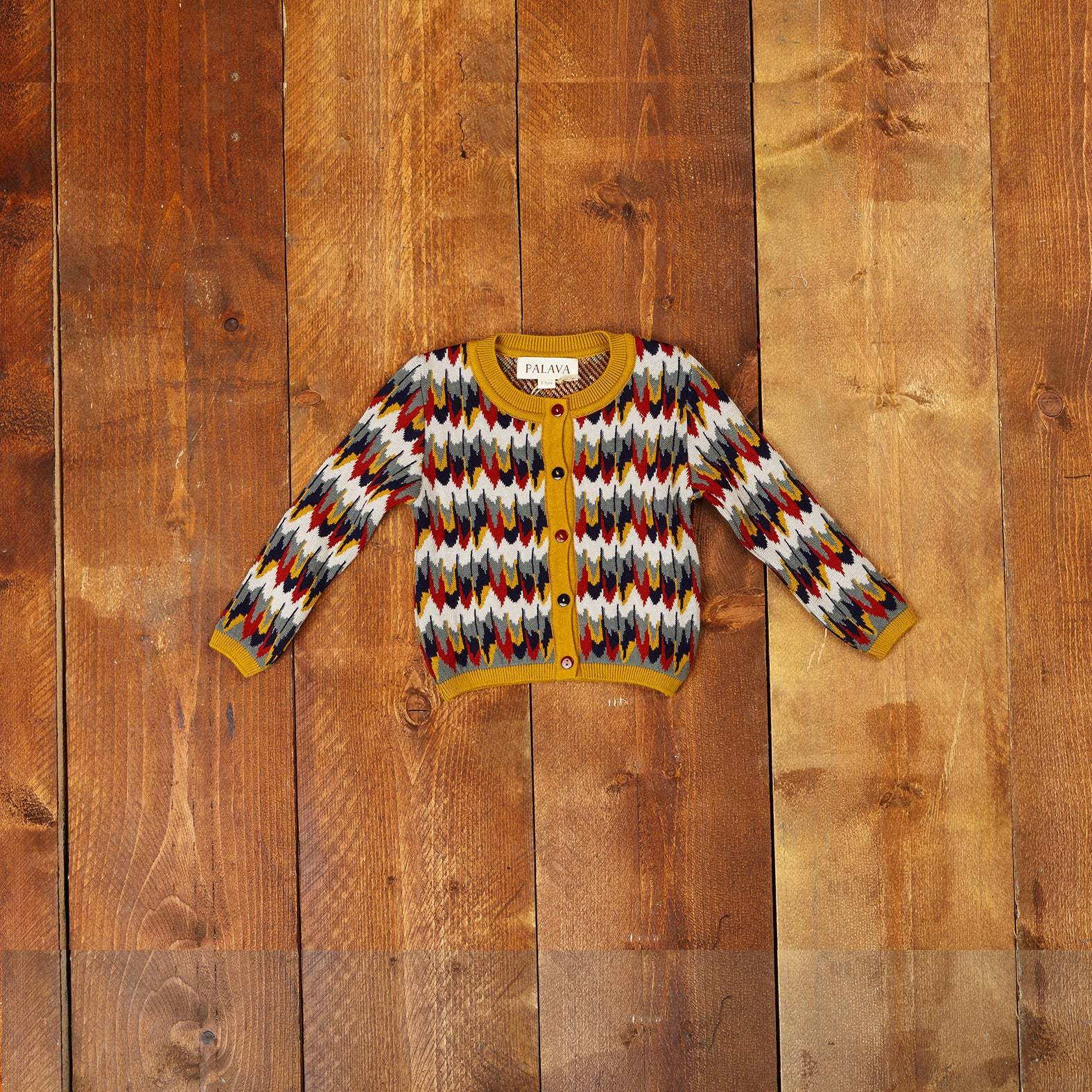 Children's Cardigan - Marbled Feathers - Palava