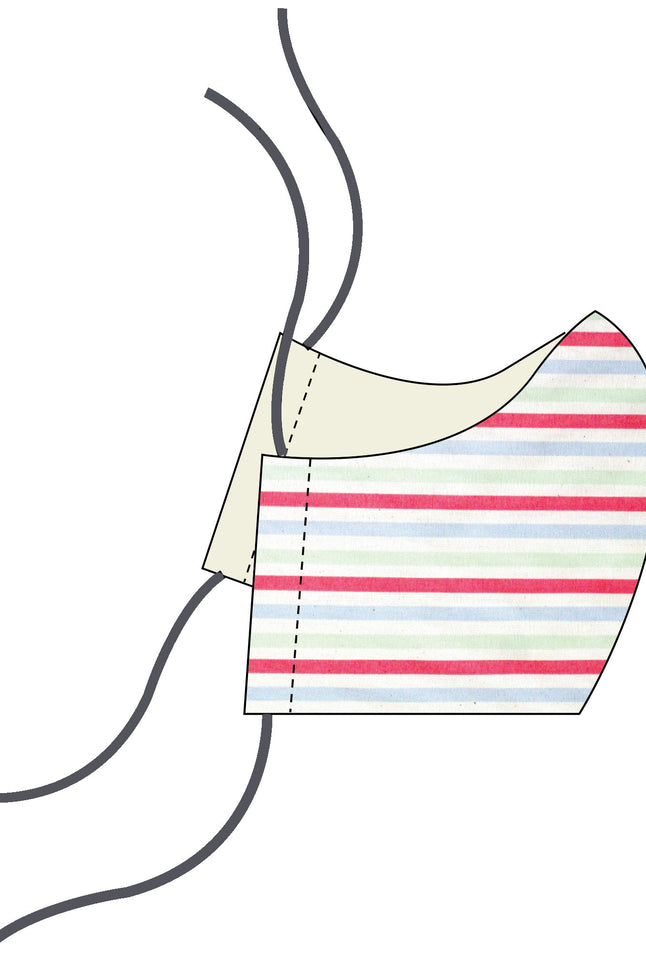 Face Mask - Primary Stripes | Cotton
