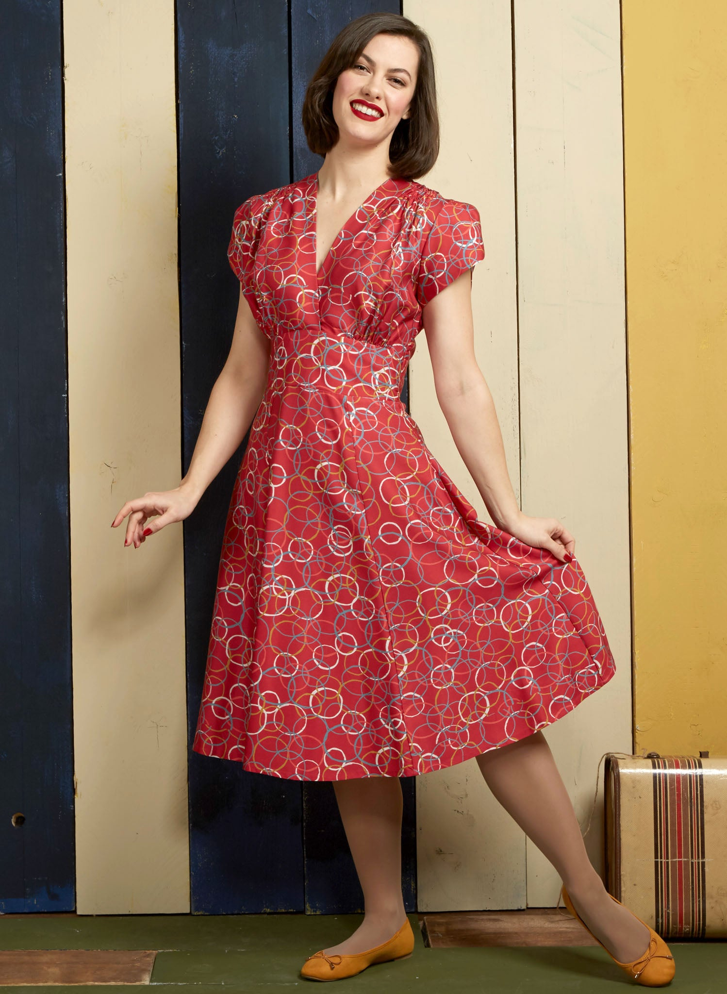 Rita - Raspberry Atomic Dress