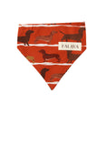 Dog Bandana - Rust Sausage Dog