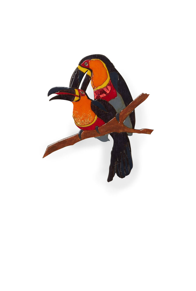 Toucan Laser-cut Acrylic Hand-painted British-made Retro Brooch