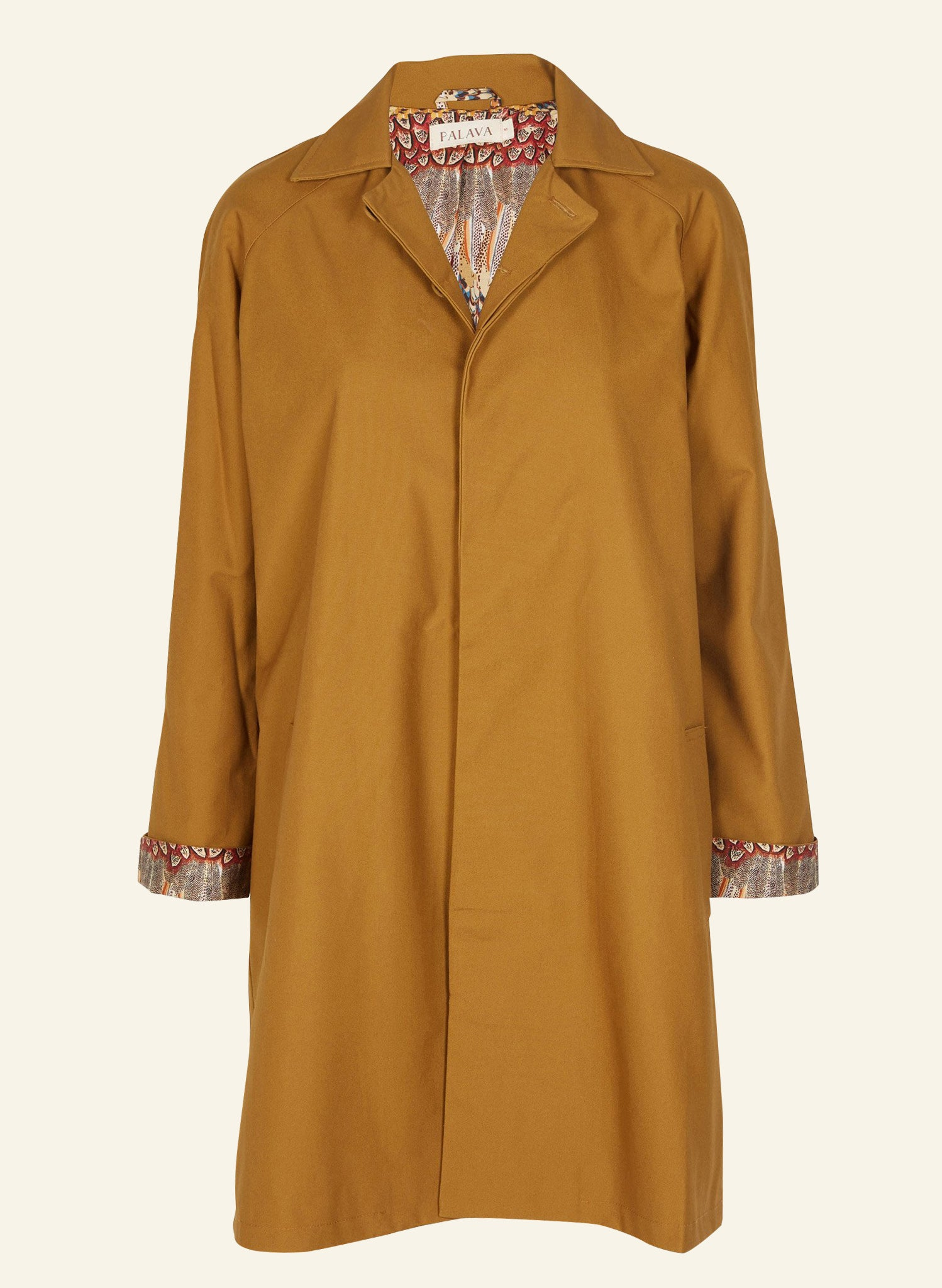 Trenchcoat - Toffee | Ruffled Feathers Print
