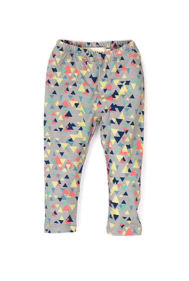 Leggings - Grey Triangle