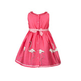 Millie - Raspberry Flamingo Print Organic Cotton Dress for Girls
