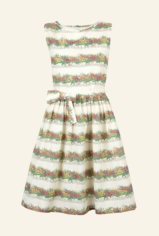 Mabel - Linen Flowerpots Dress