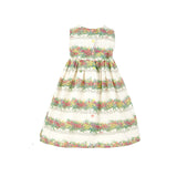 Rosie - Flowerpots Print Floral Linen Summer Party Dress for Girls